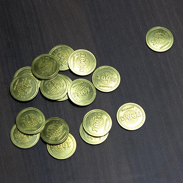 こちらは弊社だけで使える社内通貨。こちらで購入できるうまい棒以外のお菓子もたくさん!